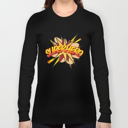 Comic Book Pop Art SUPERHERO Long Sleeve T-shirt