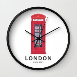 London England K6 Telephone Wall Clock