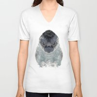 seal V-neck T-shirts featuring little seal by bri.buckley