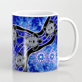 Baby Sea Turtles - Aboriginal Art Coffee Mug