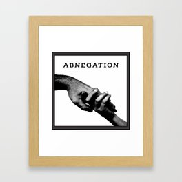 ABNEGATION - DIVERGENT (draw by me) Framed Art Print