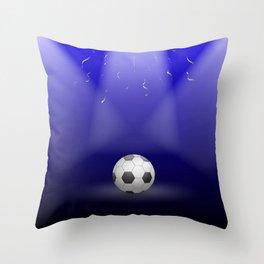 Celebration, Football in the spotlight Throw Pillow