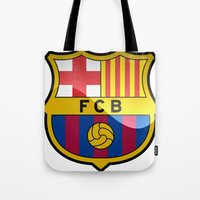 barcelona Tote Bags featuring BARCELONA by Acus
