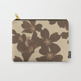 Toffee Soybean Primrose Pattern Carry-All Pouch