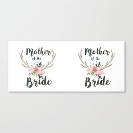 mother of the bride antlers Canvas Print