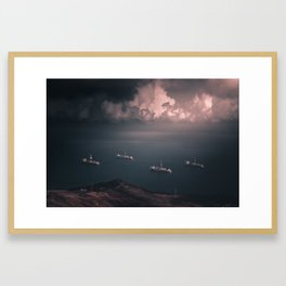 Dark waterscape 3 Framed Art Print
