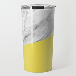 Marble with Meadowlark Yellow Color Travel Mug