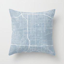 San Bernardino Map, USA - Blue Throw Pillow