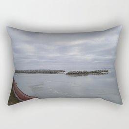 Icy Michigan Lake #1 Rectangular Pillow