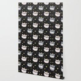 Cute cat princess face. Wallpaper