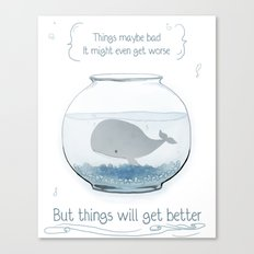 Whale in a Fishbowl Canvas Print