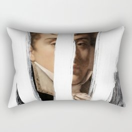 Brutalized Portrait of a Gentleman 2 Rectangular Pillow