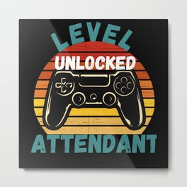 Level Unlocked Attendant Metal Print