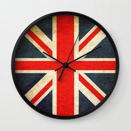 Vintage Union Jack British Flag Wall Clock