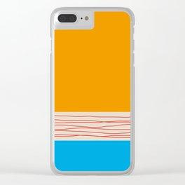 Minimal Retro Pattern Clear iPhone Case