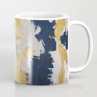 maps Mugs featuring Golden Maps by Eunieverse Art
