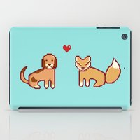 the hound iPad Cases featuring Fox & Hound by AndrewMier