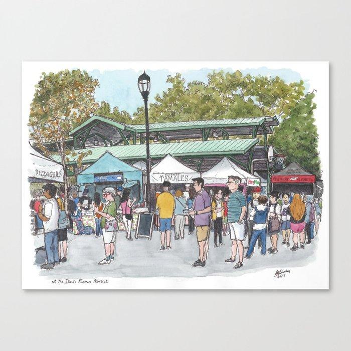 Davis Farmers Market Canvas Print