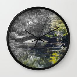 Bridge in Swamp Wall Clock