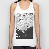 singapore Tank Tops featuring Singapore Map Gray by City Art Posters
