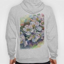 Watercolor bloom apple flowers Hoody