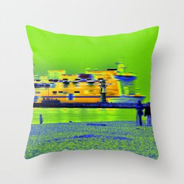 "GHOSTSHIP - Baltic Sea - ""VACANCY zine"" Throw Pillow"