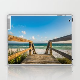 Head to the Beach - Boardwalk Leads to Summer Fun in Florida Laptop & iPad Skin