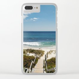 Wooden Path Over Sand Dunes to a Western Australia Beach Clear iPhone Case