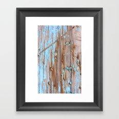 Turquoise Beach Wood II Framed Art Print