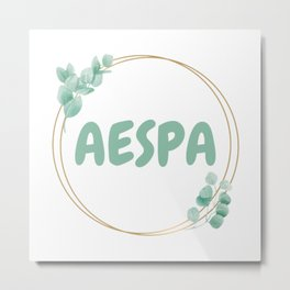 AESPA cute lettering Metal Print