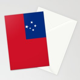 National flag of Samoa - Authentic version scale and color Stationery Cards