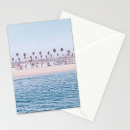 Vintage Newport Beach Print {3 of 4} | Photography Ocean Palm Trees Cool Blue Tropical Summer Sky Stationery Cards