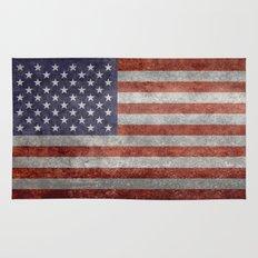 The United States of America Flag, Authentic 10:19 G-spec Desaturated version Rug