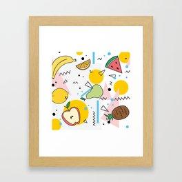 Fruit Salad Memphis Framed Art Print