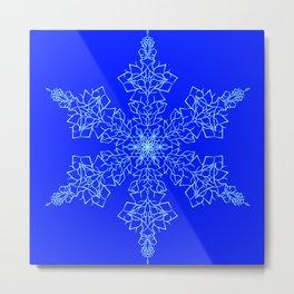 Woven Snowflake Metal Print