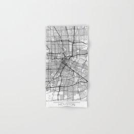 Houston Map White Hand & Bath Towel