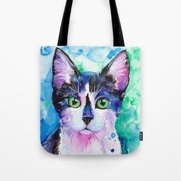 Black and White Tuxedo Cat Tote Bag
