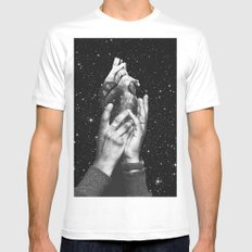 Heart says hold on Mens Fitted Tee White MEDIUM
