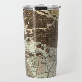 Map of Los Angeles 1930 Travel Mug