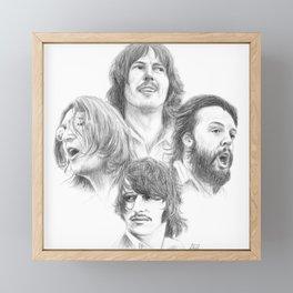 John, Paul, George & Ringo Framed Mini Art Print