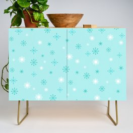 AFE Turquoise Snowflakes Credenza