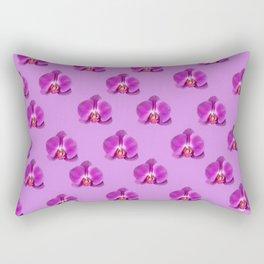 Purple Butterfly Orchids Patterns Golden Art Rectangular Pillow