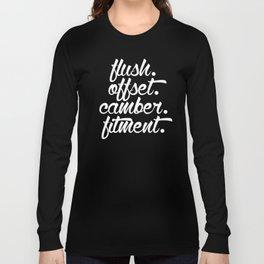 flush offset camber fitment v6 HQvector Long Sleeve T-shirt