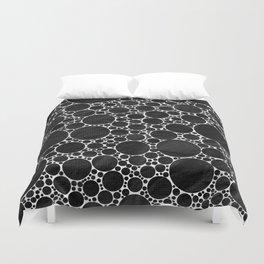 Modern Black and WHITE Textured Bubble Design Duvet Cover
