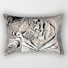 Impressive Animal, Tiger 4 Rectangular Pillow