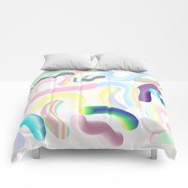 Pastel Rainbow Worms 1. Comforters