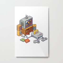 Retro gaming console Metal Print