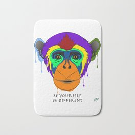 Be yourself, be different - chimpanzee Bath Mat