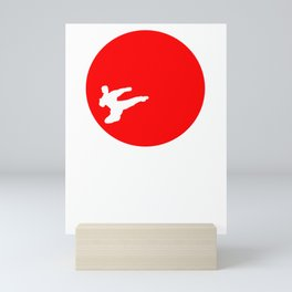 This karate design is the perfect gift for martial artists who loves Taekwondo or Kung Fu Mini Art Print