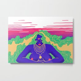 Age of the psychedelic woman Metal Print
